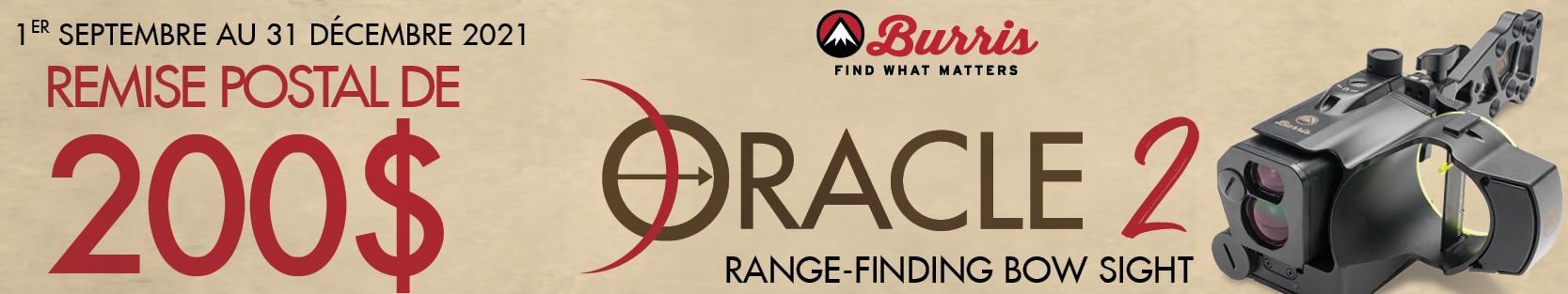 Burris Oracle 2 canada rebate 2021 - Banner French